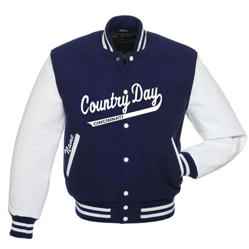 Cincinnati Country Day Varsity Jacket Script Front Option