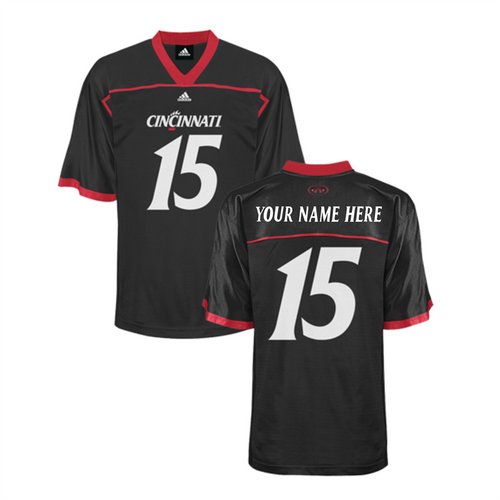 Adidas Cincinnati Bearcats Black Personalized Custom Premier Football Jersey