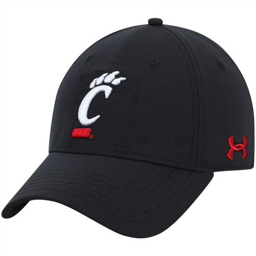 Cincinnati Bearcats Under Armour Black Blizting 3.0 Stretch Fit Hat