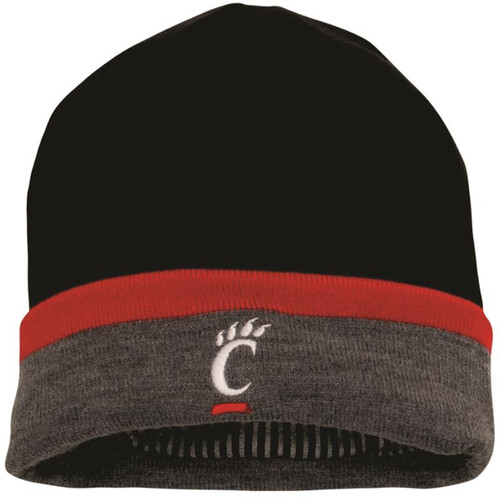 Cincinnati Bearcats Under Armour Black Sideline CGI Performance Cuffed Knit Hat