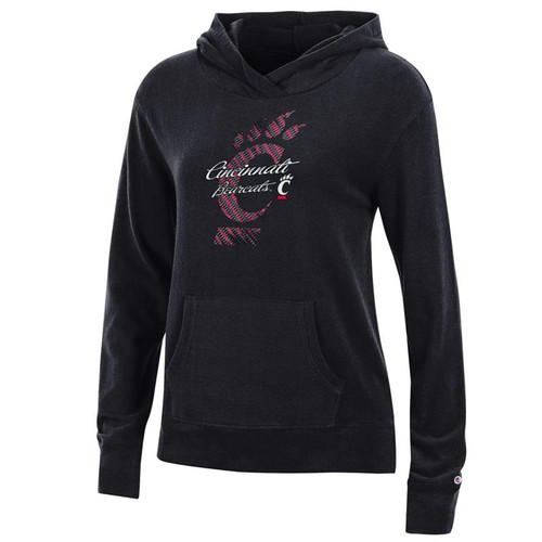 Cincinnati Bearcats Champion Women's Black University Lounge Hooded Sweatshirt