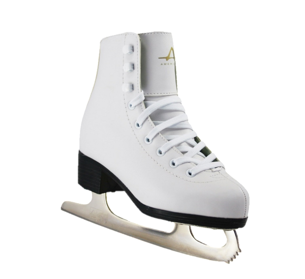 American Athletic Shoe Co. Girls Tricot Lined Figure Skates