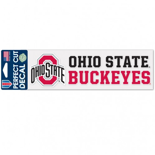 """Ohio State 3"""" x 10"""" Perfect Cut Decal"""