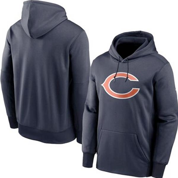 Men's Chicago Bears Navy Club Fleece Pullover Hoodie