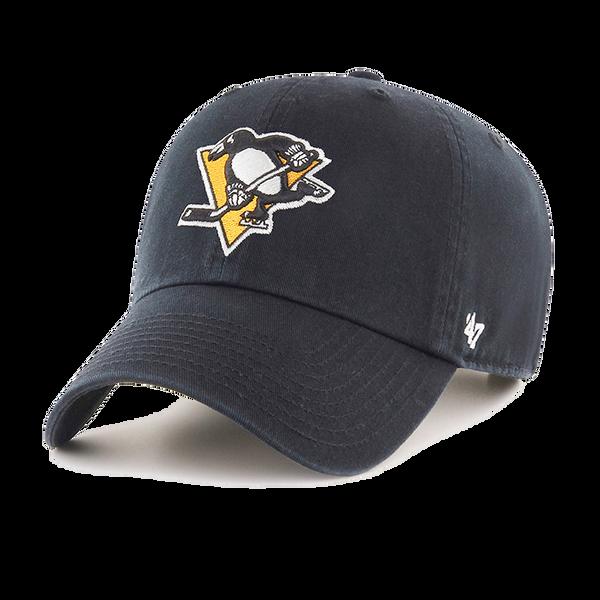 47' Brand Pittsburgh Penguins Black Cleanup Adjustable Hat
