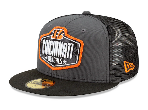 Men's Cincinnati Bengals New Era Graphite/Black 2021 NFL Draft On-Stage 59FIFTY Fitted Hat
