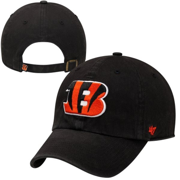 '47 Brand Cincinnati Bengals Cleanup Adjustable Hat - Black