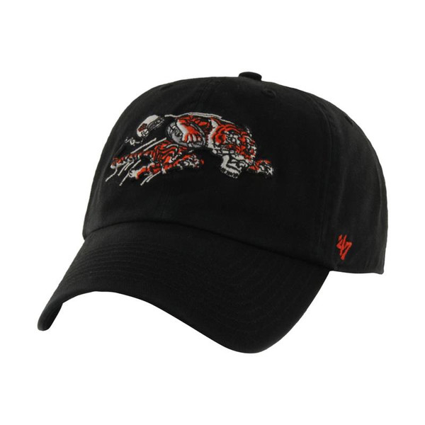 Cincinnati Bengals '47 Brand 1968 Logo Black Clean Up Adjustable Hat