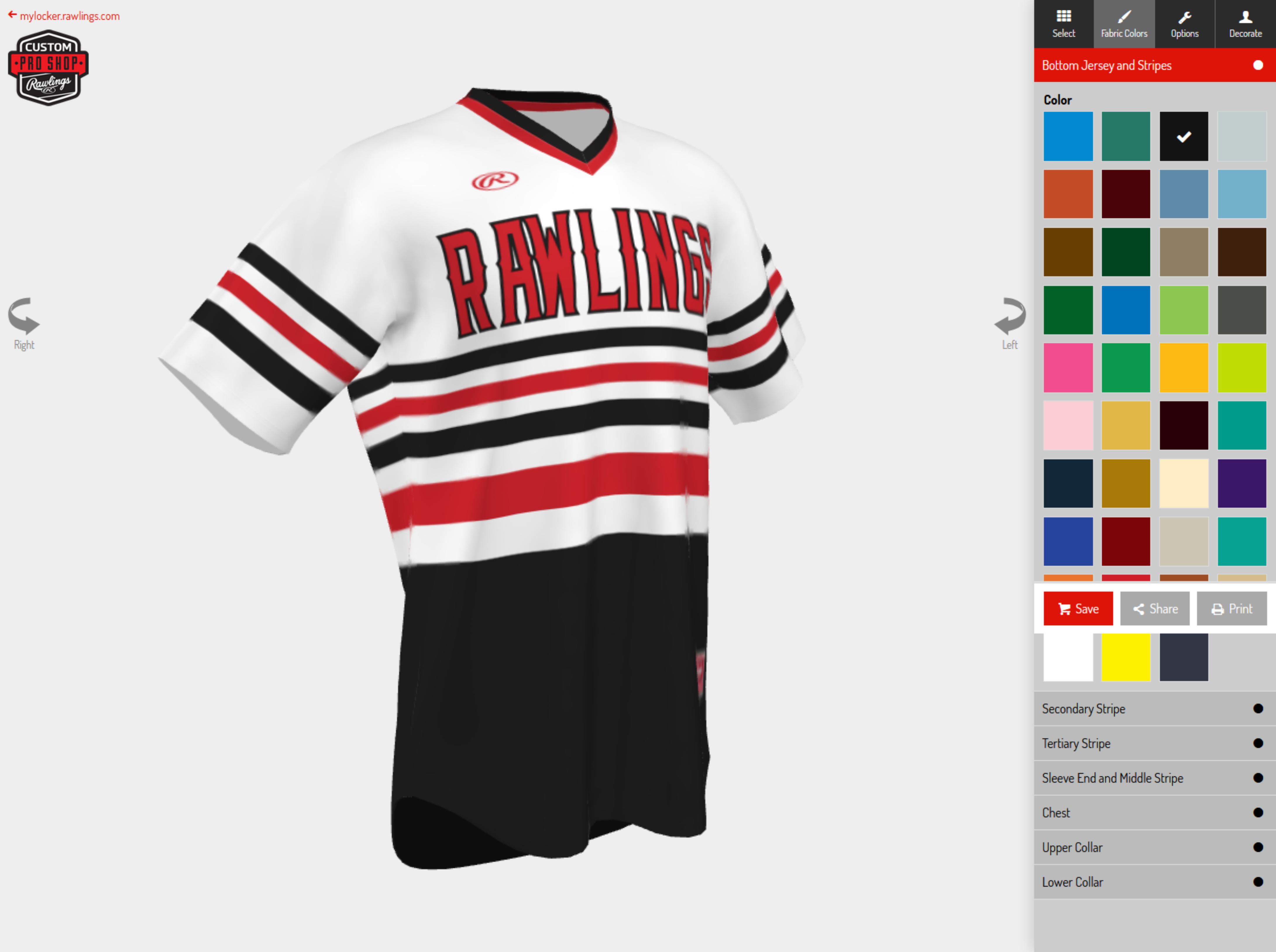 Rawlings Uniform Builder
