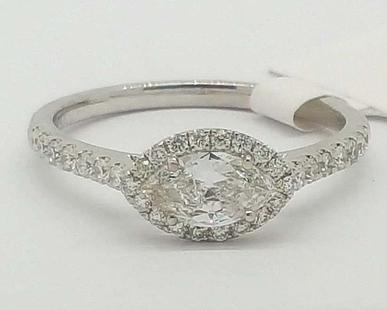Fine Rings 0.83ct Round Diamond Engagement Wedding Band Solid 14k Solid White Gold Jewelry & Watches