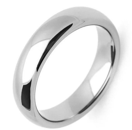 Solid 14K White Gold 4 MM Size 11 Comfort Fit Wedding Ring Band Mens Womens