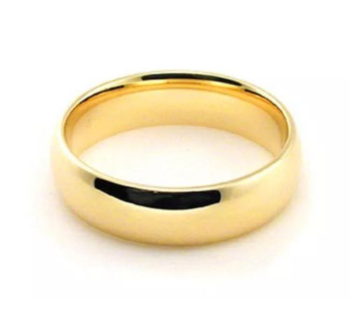 Solid 14K Yellow Gold 5 MM Size 12 Comfort Fit Wedding Ring Band Mens Womens
