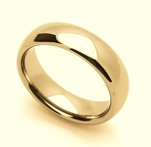 Solid 14K Yellow Gold 6 MM Size 11 Comfort Fit Wedding Ring Band Mens Womens