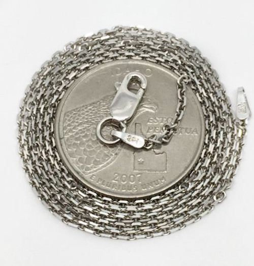 "Italian 925 Sterling Silver Link Chain Necklace 20"" Lobster Clasp Mens, Womens"