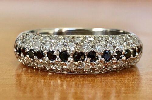 14k white gold 0.83 Ct genuine round diamond 6 mm wedding anniversary Band ring