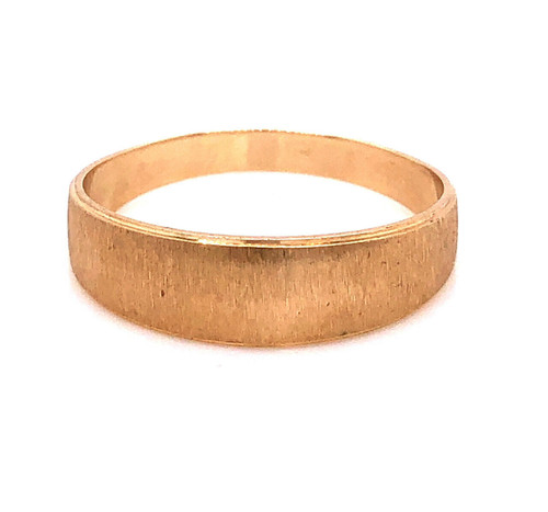 14K Yellow Gold 6 mm Size 6.5 Matte Finished Wedding Ring 2.8 Grams Unisex