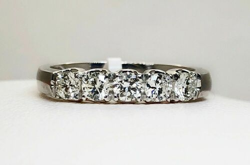 950 Platinum 0.51Ct Natural Diamond SI1/G Wedding, Anniversary Band Ring Size 6
