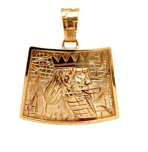 18k Yellow Gold Cyrus The Great Achaemenid King Pendant 1st. Human Right 18.5 Gr