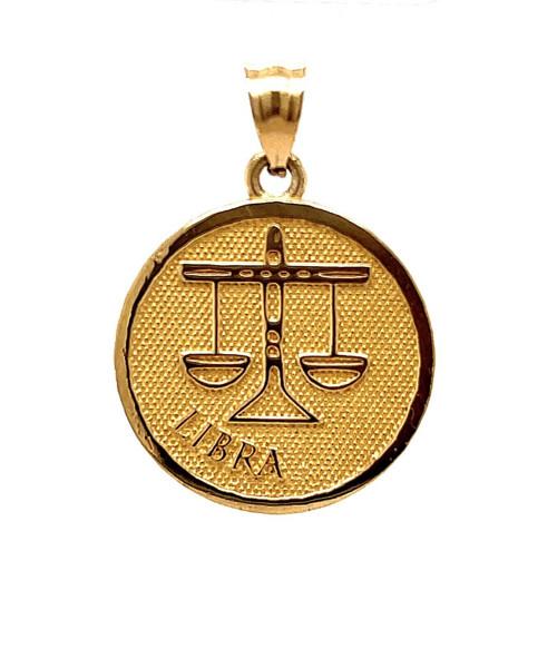 """14k Solid Yellow Gold Zodiac Libra Charm Pendant 4.5 Grams 0.80"""""""