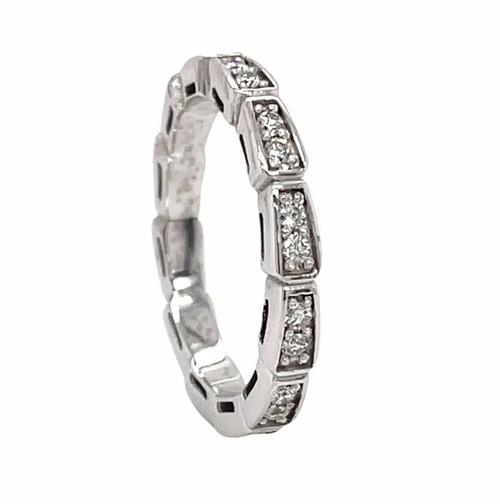 18K Solid White Gold 0.45 Ct Natural Diamond Wedding, Anniversary Ring VS2, G