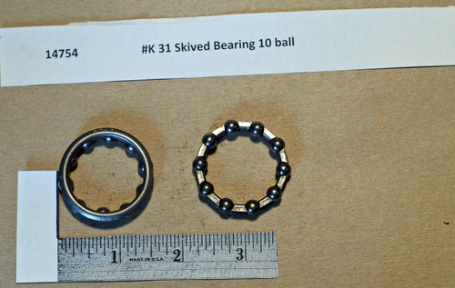 #K 91 Skived Bearing 10 ball