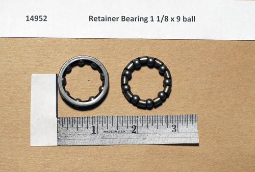 Retainer Bearing 1 1/8 x 9 ball