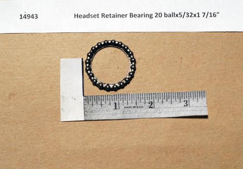 """Headset Retainer Bearing 20 ballx5/32x1 7/16"""""""