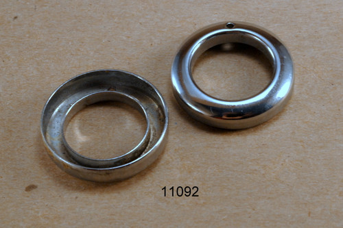#739 Front Hub dustcap chrome - each