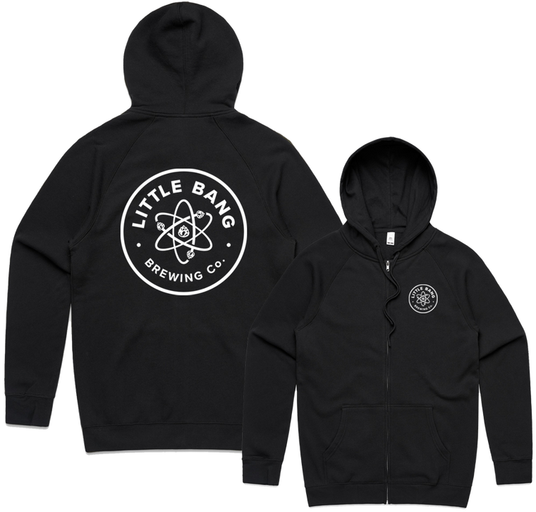 Little Bang Black Zip Hoodies