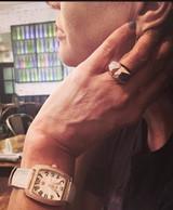 Multi-Faceted  18KT Rose Gold Vermeil Ring