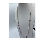 Designer Gemstone Chain with Quartz & FW Pearls Silver