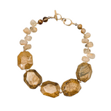 Bronzite and Rutilated Quartz Necklace
