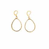 Gold Vermeil Bamboo Pear-shaped Earrings