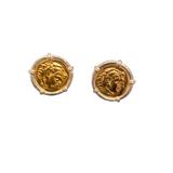 Roman Coin Cuff links - 18 KT Gold Vermeil