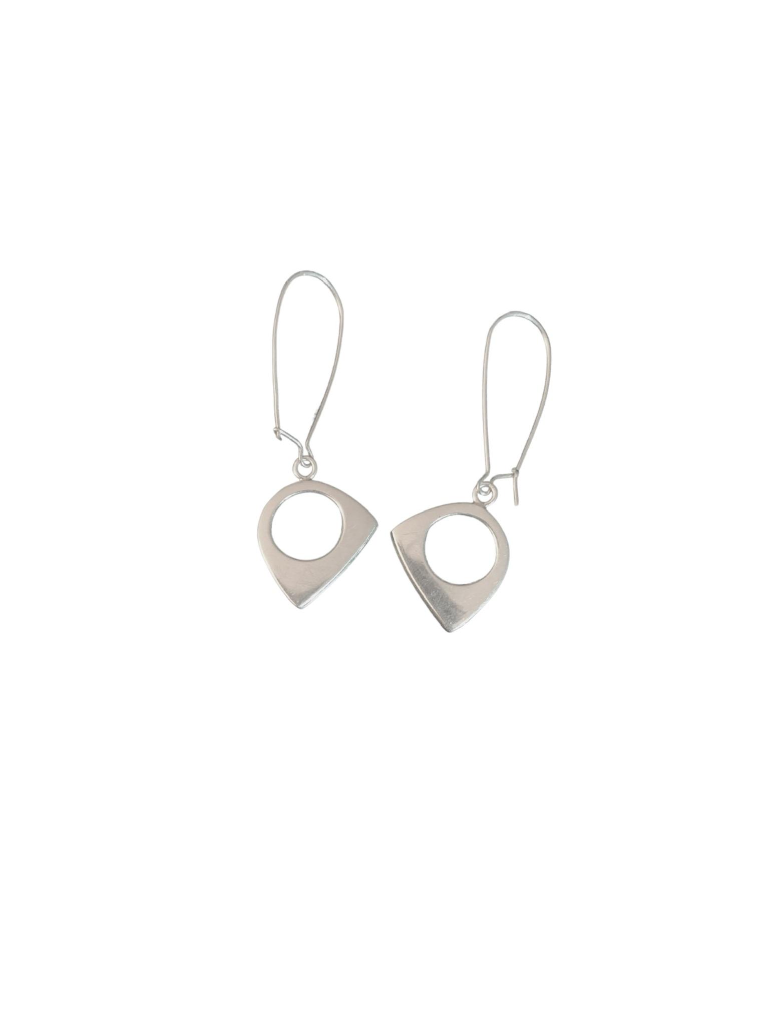 Sterling Silver Zen Asymmetric Earrings