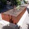 Raised Corten Steel Planter Box: As shown 96 inch length with a natural rust patina.