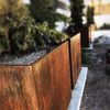 Yard Couture Rusted Corten Steel Symmetrical Square Planter Box.