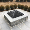 Wood Burning Low Profile fire pit spark screen in carbon black steel finish