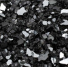 """1/2"""" Black Reflective Fire Pit Glass: Infused tempered fire glass that is mirrored on one side."""