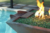 BOBE WATER AND FIRE COPPER FIRE AND WATER PIT: As shown in a patina copper finish pool side product photo.  (Perfect Flame Burner)