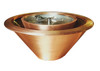 Bobe Copper 360 Spill Water/Fire Pot: As shown smooth copper fire/water 360 spill fire feature.