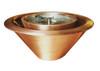 Bobe Copper 360 Spill Water/Fire Pot: As shown smooth copper fire/water 360 spill fire feature.