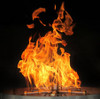 Bobe Water And Fire Perfect Flame Burner: As shown tall full flames produced by exclusive the Perfect Flame Burner.