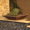 Bobe Water And Fire Square Smooth Copper Planter with Succulent.