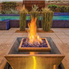 Bobe Water And Fire Square 360 Spill Water and Fire Bowl: As shown in the Artisan Series smooth copper finish and the Perfect Flame Burner