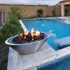 Stainless Steel Bobe Round Fire And Water Bowl: As shown in the polished stainless steel finish with lava rock media.