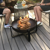 """Wood burning fire pit Freemont: Shown with the 24"""" diameter."""