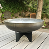 Aspen Wood Burning Fire Bowl: As shown with the raw un-rusted steel bowl and black aluminum base.