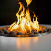 Isla Propane Fire Table:  Propane burner with smooth tumbled lava rock media.