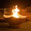 Manta Ray Gas Fire Pit - 1/4 inch thick carbon steel rust finish.